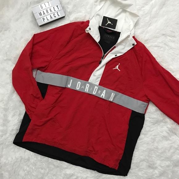 35f189bff93081 NWT Nike Air Jordan Wings Anorak Jacket Men s